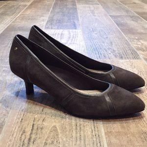 Rockport Leather Suede Heel Adidas Comfort 6.5
